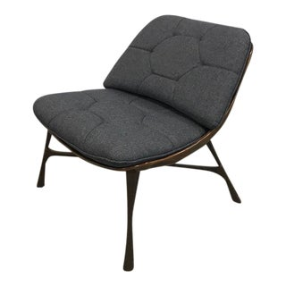 Hammered Metal Armless Chair