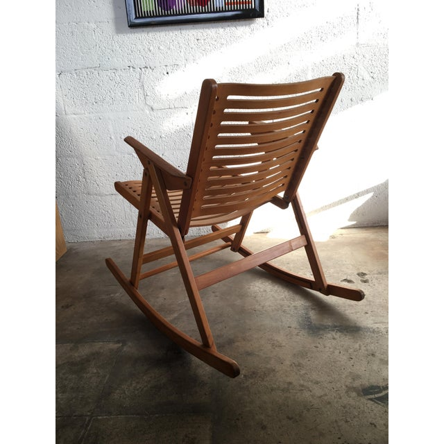 Niko Kralj Vintage Rex Folding Rocking Chair Chairish