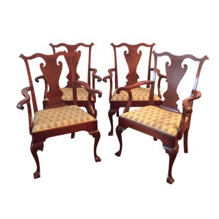 Queen Anne Dining Chairs - Set of 4