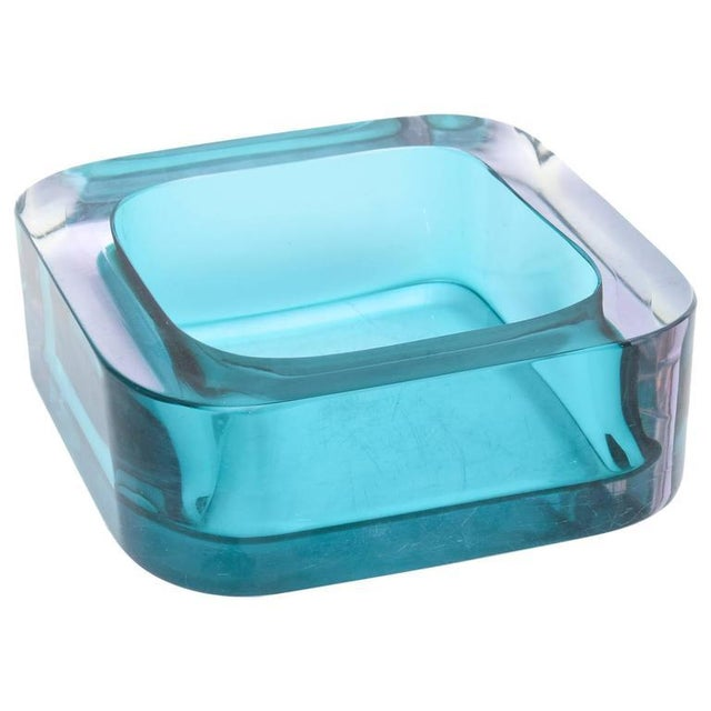 Italian Flat Cut Polished Cenedese Sommerso Square Glass Bowl - Image 1 of 9