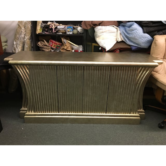 Silver-Leaf Fluted Wood Buffet - Image 2 of 5