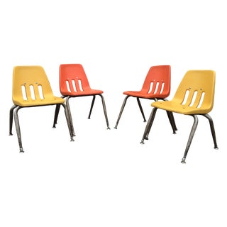 Stacking Chairs by Virco Los Angeles - Set of 4