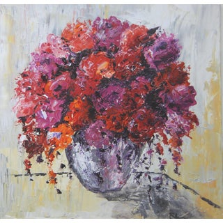 The Silver Vase-Abstract Floral by C. Plowden