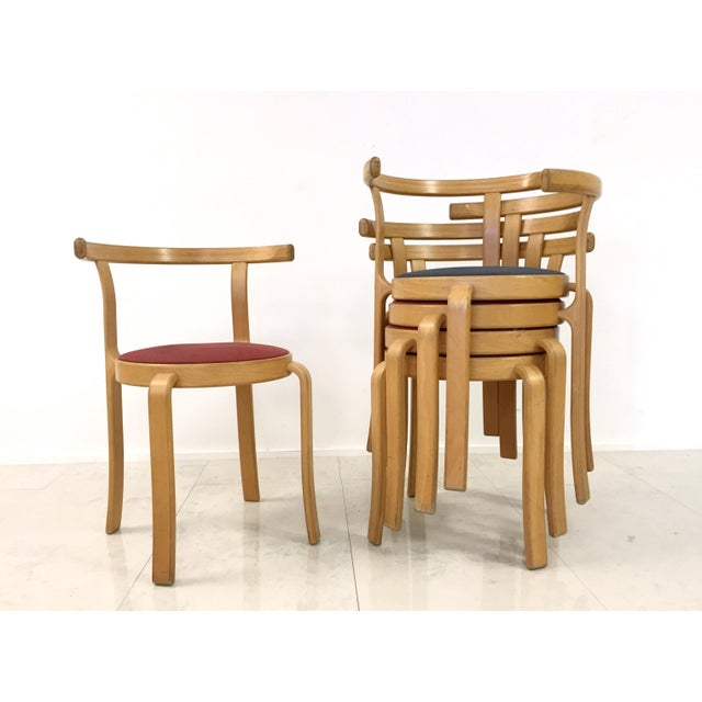 Danish Magnus Olesen Stacking Chairs - Set of 5 - Image 6 of 8
