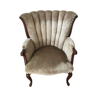 Channel Back Antique Armchair