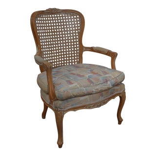 Traditional Cane Back Bergere Chair