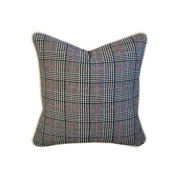 Custom Ralph Lauren Houndstooth Pillows - A Pair - Image 3 of 7