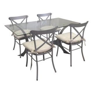 Metal & Glass Dining Set