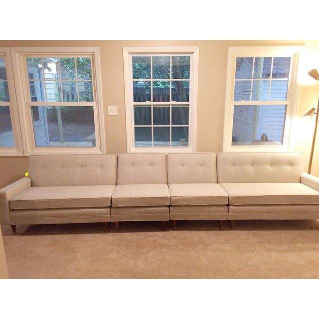 Image of Vintage Mid-Century Sectional Sofa