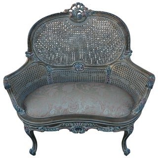 Cane Back European Settee