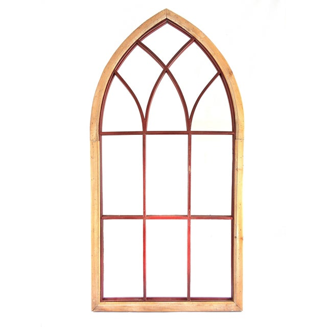Gothic Cathedral Style Arched Wall Mirror - Image 1 of 4