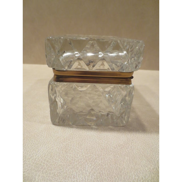 Large Cut Glass & Brass Antique French Vanity Box - Image 5 of 7