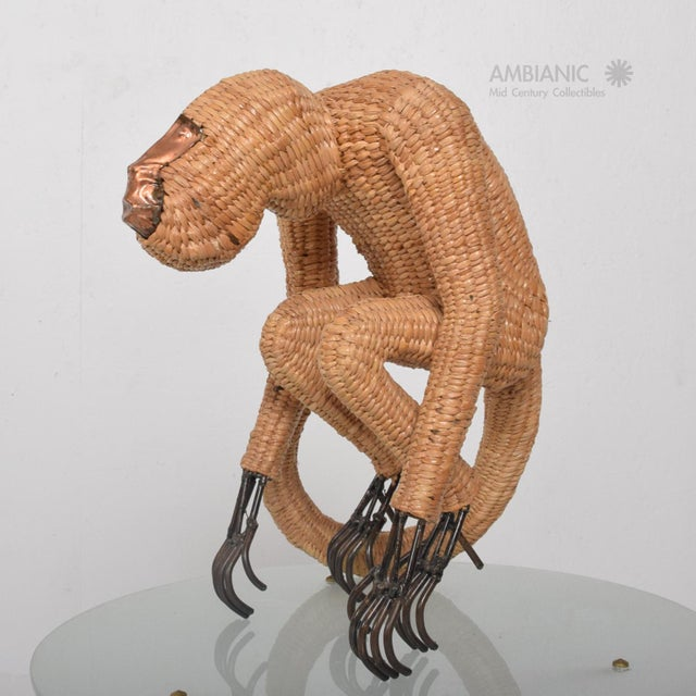 Mario Lopez Torres Wicker Monkey Sculpture - Image 3 of 10
