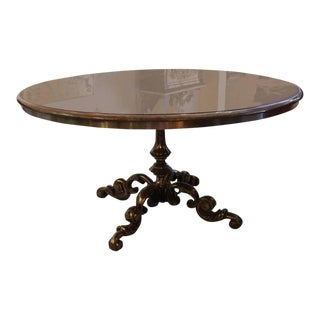 Steel & Glass Dining Table