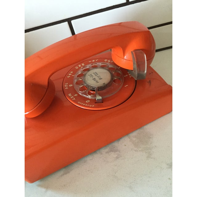 Vintage Orange Wall Phone - Image 9 of 12