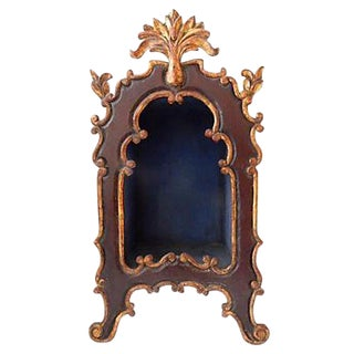 Baroque-Style Wood Mini Cabinet