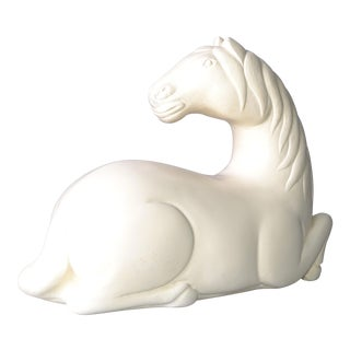 Ceramic White Horse Sculpture