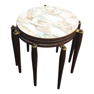 Faux Marble Nesting Side Tables - Set of 3