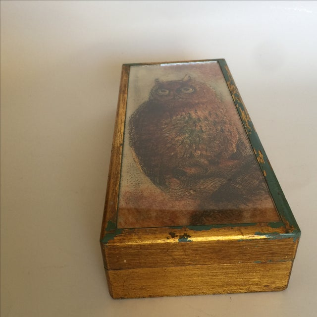 Mid-Century Distressed Owl Box - Image 3 of 9