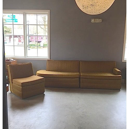 Mid Century 3 Piece Sectional Sofa - Image 2 of 8