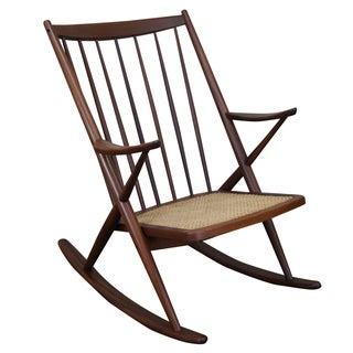 Frank Reenskaug Bramin Danish Modern Rocking Chair
