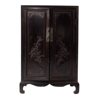 Antique Lacquered Asian Cabinet