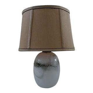 "1970's Michael Bang Holmegaard Blown Marbled Glass ""Sakura"" Table Lamp"