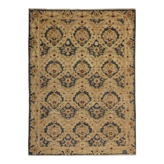 Turkish Oushak Hand Knotted Area Rug - 4′ × 5′11″