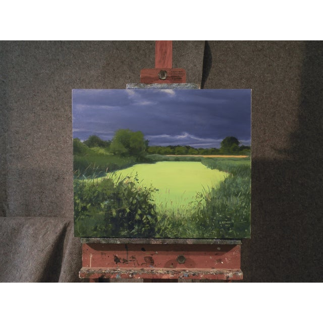 Original Landscape Painting, Algae Covered Pond - Image 2 of 5
