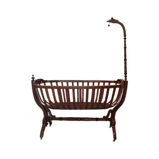 Antique French Swan Cradle