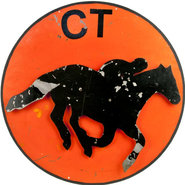 Vintage 3-D Metal Horse Stable Sign - Image 1 of 3