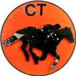 Image of Vintage 3-D Metal Horse Stable Sign