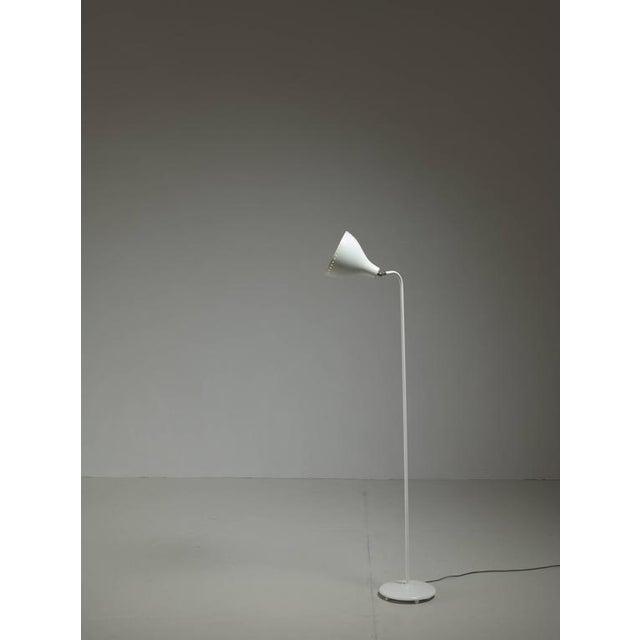 Jac Jacobsen White Metal Floor Lamp, Norway, 1950s - Image 4 of 4