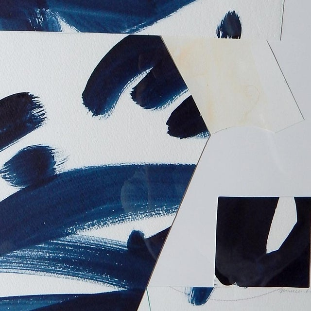 "Michelle Armas A Stroke of Blue Collage 14""x17"" - Image 2 of 4"