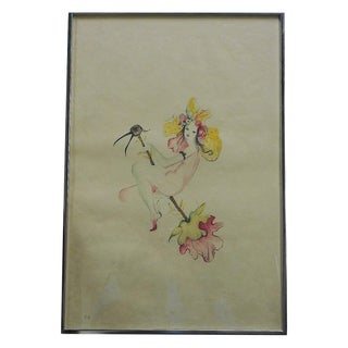 Ltd. Ed. Vintage Whimsical Lithograph by Fini