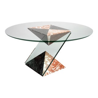 French Bevelled Center Table