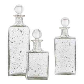 Georgia Glass Decanters - Set of 3