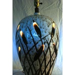 Image of Mid-Century Cattail Lamp With Night Light