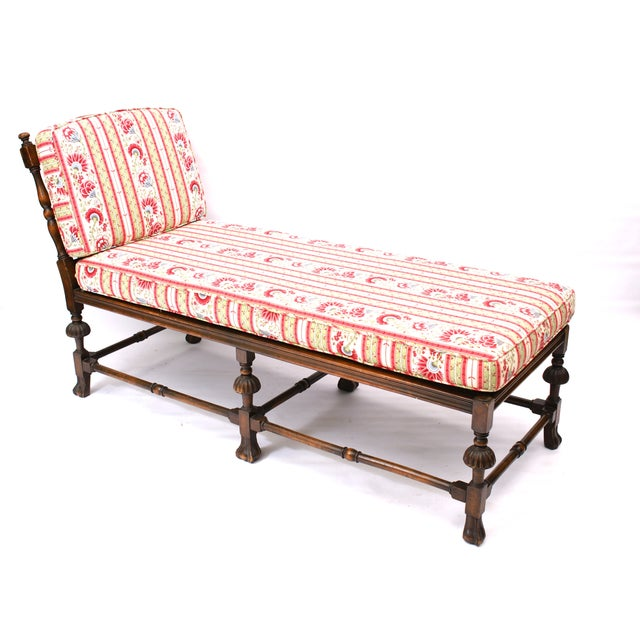 Caned chaise longue lounger daybed chairish for Chaise longue daybed