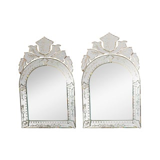 Florentine Style Etched Mirrors - A Pair