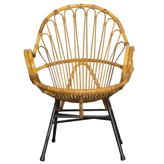 Rohe Noordwolde Bamboo Hoop Chair With Arms - Image 1 of 10