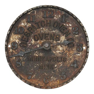 Despatch Oven Co., Minneapolis, Minnesota Advertising Clock Face