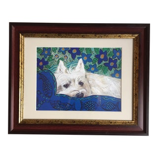 Westie Dog Print After Painting by Judy Henn