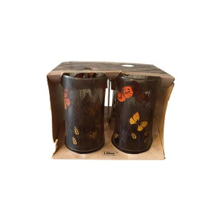 Libbey Butterfly Tumblers- Set of 4