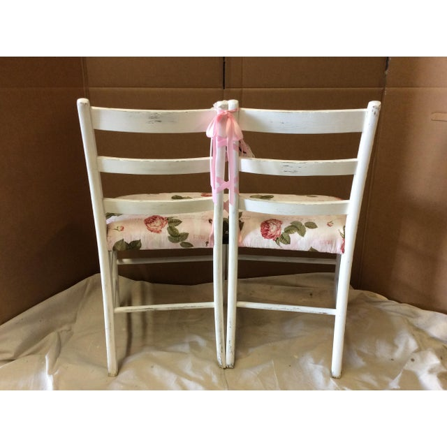 Image of Custom Floral Ballerina Bench