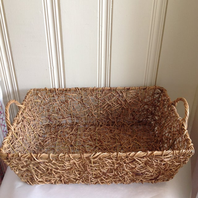 Natural Woven Twig Basket - Image 8 of 8