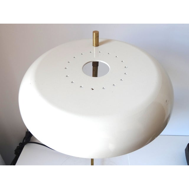 Italian Brass & White Lacquered Lamps - A Pair - Image 5 of 6