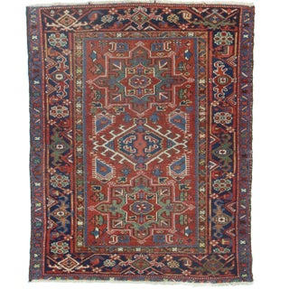 Hand-Knotted Wool Persian Karajeh - 3′4″ × 4′3″