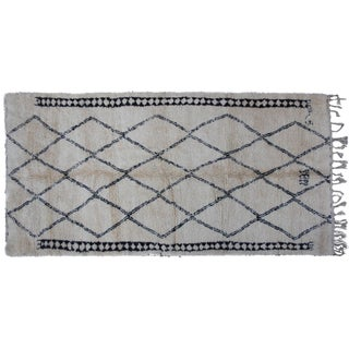 Vintage Moroccan Beni Ourain Rug - 11'4'' X 5'9''