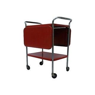 1950s Red Metal Cart